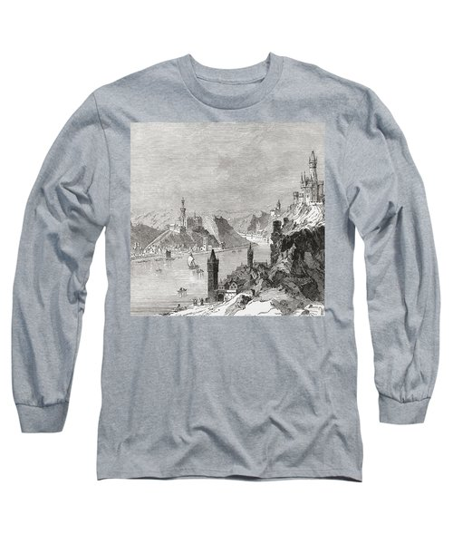 Sankt Goar And The Burg Rheinfels Long Sleeve T-Shirt