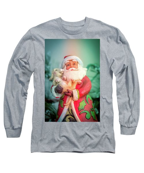 Santa And Lab Pup Long Sleeve T-Shirt