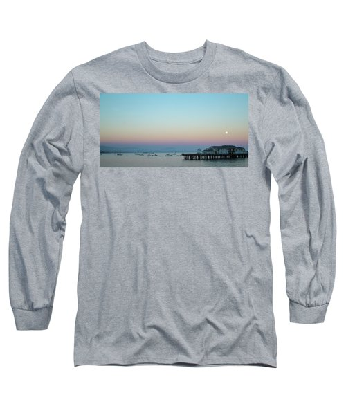 Santa Barbara Pier At Dusk Long Sleeve T-Shirt