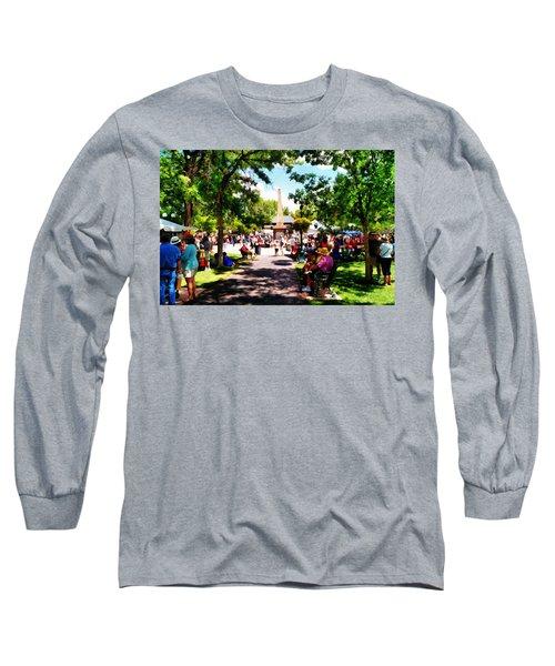 Santa Fe New Mexico Long Sleeve T-Shirt by Joseph Frank Baraba