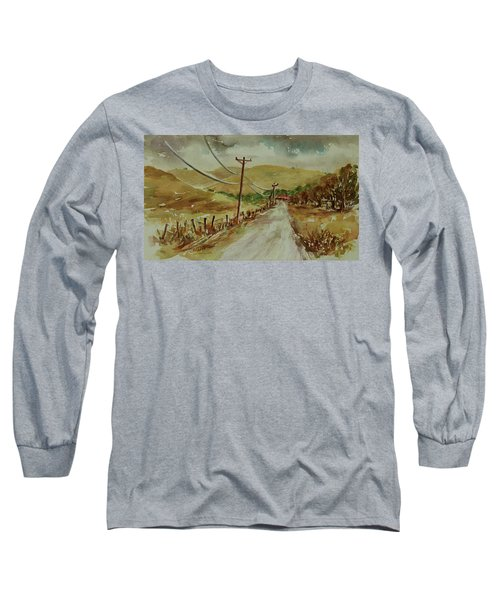Long Sleeve T-Shirt featuring the painting Santa Teresa County Park California Landscape 1 by Xueling Zou