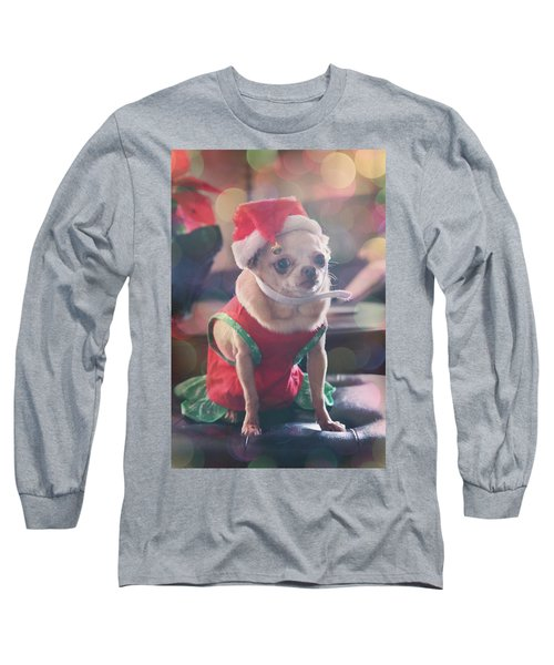 Long Sleeve T-Shirt featuring the photograph Santa's Little Helper by Laurie Search