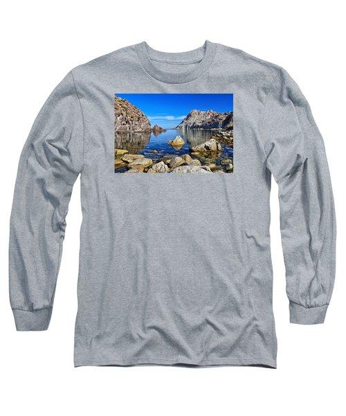Sardinia - Calafico Bay  Long Sleeve T-Shirt by Antonio Scarpi