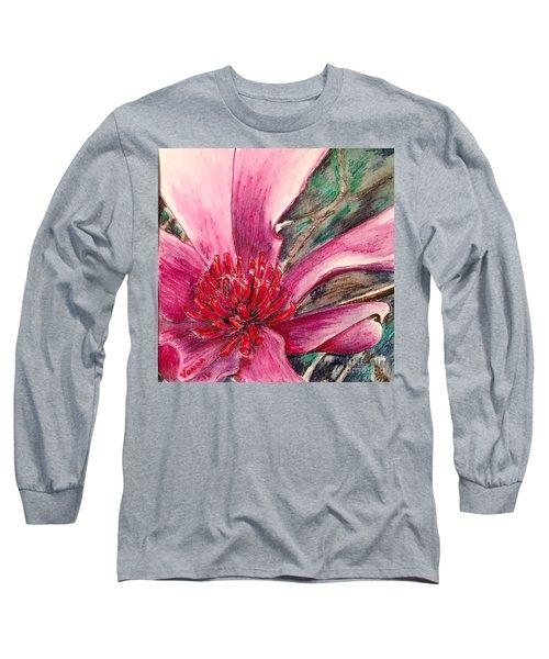 Saucy Magnolia Long Sleeve T-Shirt by Vonda Lawson-Rosa