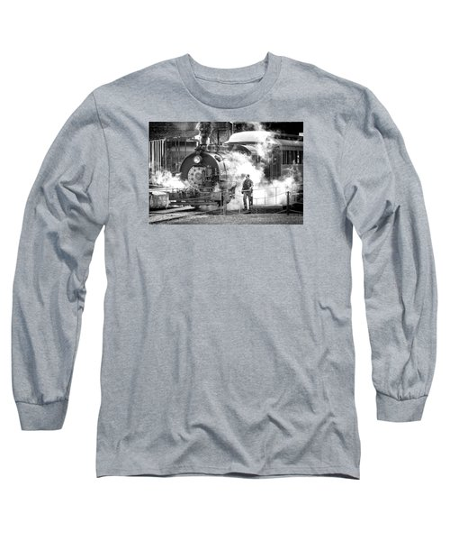 Savannah Central Steam Locomotive Long Sleeve T-Shirt