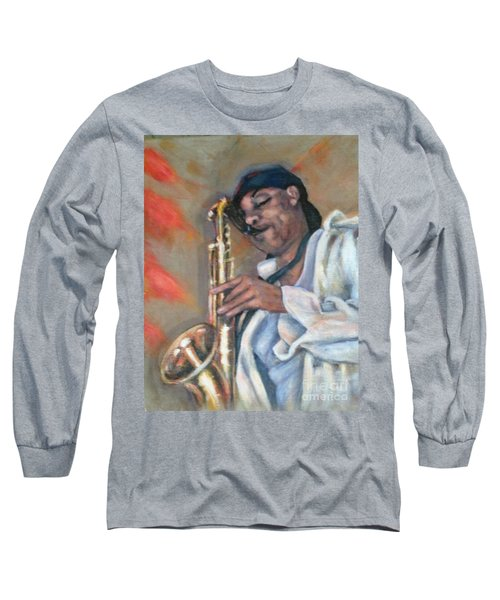 Sax And Linen Long Sleeve T-Shirt
