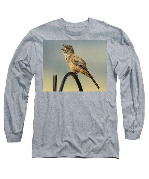 Say's Phoebe Singing Long Sleeve T-Shirt by John Brink