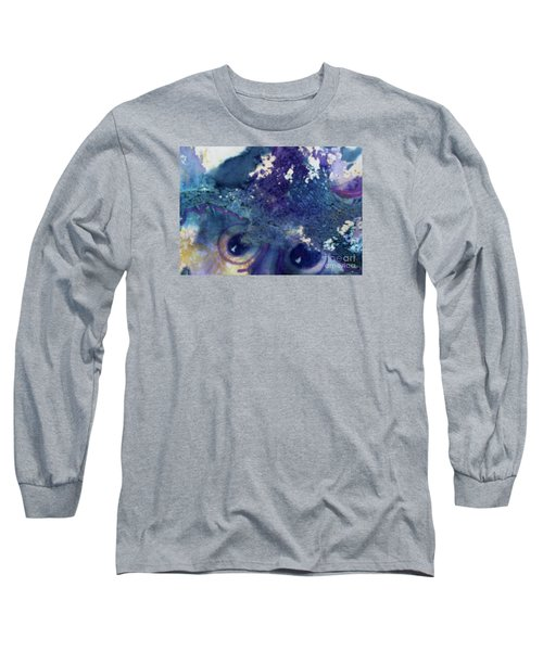 Long Sleeve T-Shirt featuring the painting Scarecrow Eyes by Kathy Braud