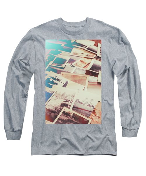 Scattered Collage Of Old Film Photography Long Sleeve T-Shirt