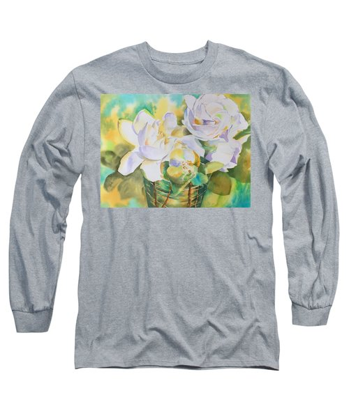 Scent Of Gardenias  Long Sleeve T-Shirt by Tara Moorman