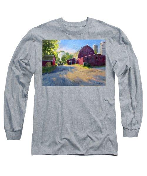 Schober's Barn At Sunset Long Sleeve T-Shirt