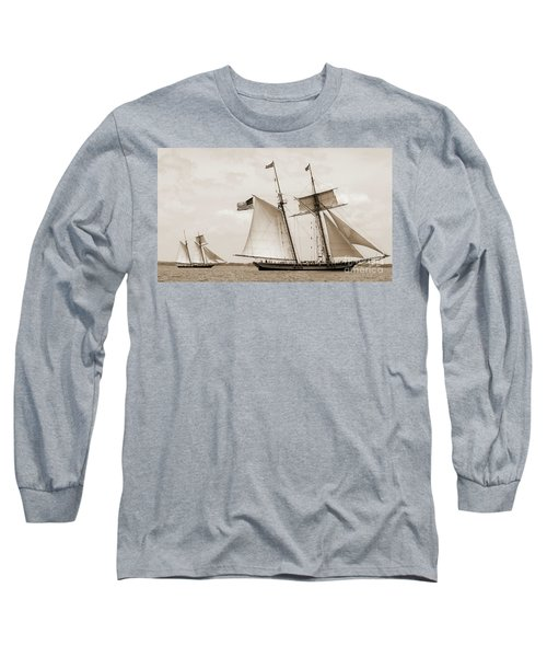 Schooners Pride Of Baltimore And Lynx Long Sleeve T-Shirt