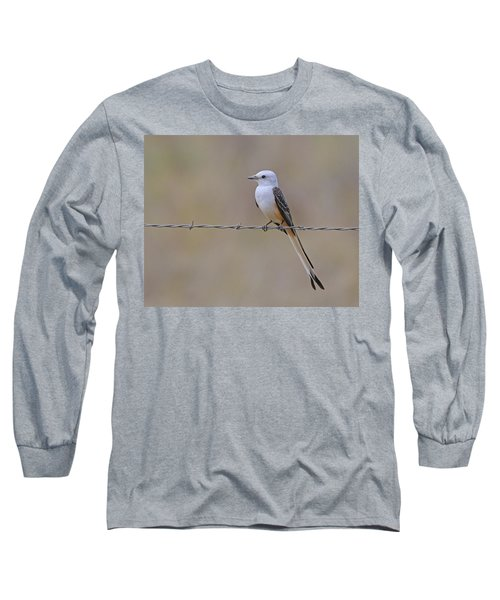 Scissor-tailed Flycatcher Long Sleeve T-Shirt by Tony Beck