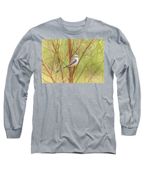 Scissortail In Scrub Long Sleeve T-Shirt by Robert Frederick