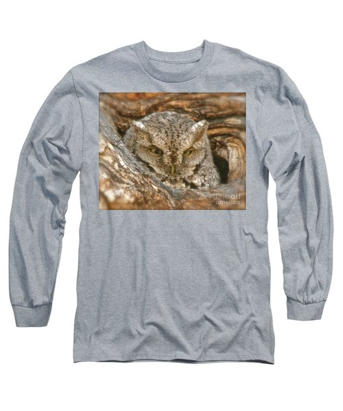 Screech Owl On Spring Creek Long Sleeve T-Shirt