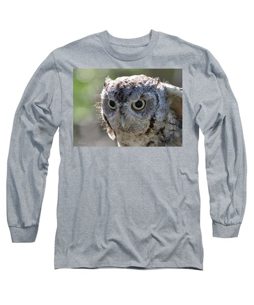 Screechowl Focused On Prey Long Sleeve T-Shirt
