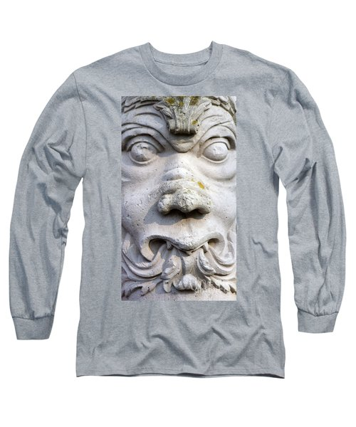 Sculpture At The Main Entrance Of The Corvey Monastery Long Sleeve T-Shirt