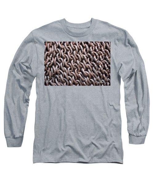 Sculpture Of Chain Long Sleeve T-Shirt