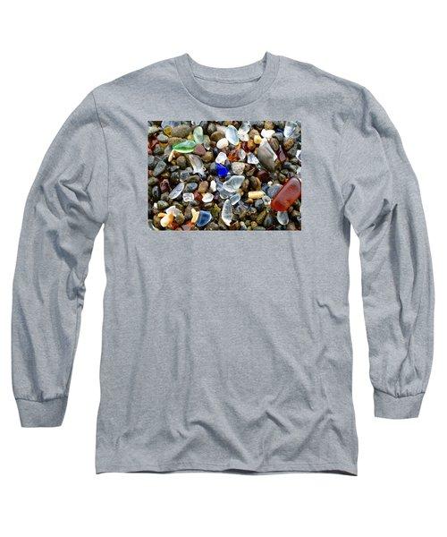 Sea Glass Beauty Long Sleeve T-Shirt by Amelia Racca