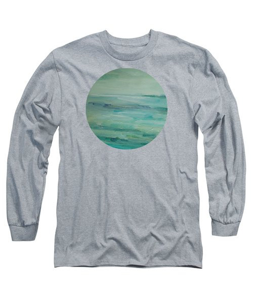 Long Sleeve T-Shirt featuring the painting Sea Glass by Mary Wolf