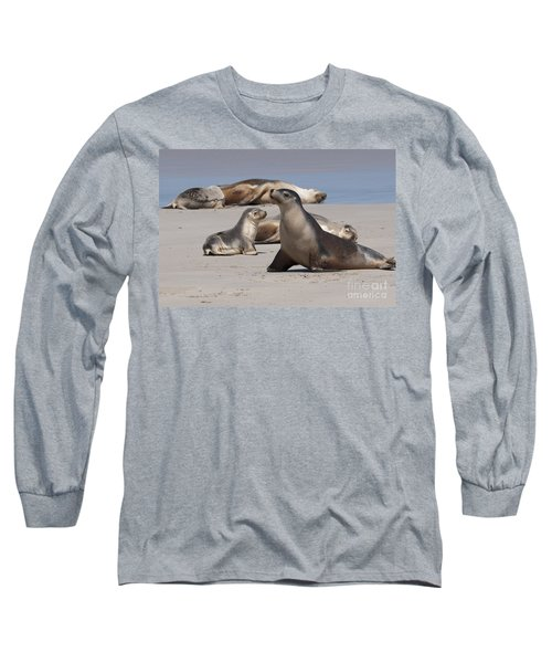 Long Sleeve T-Shirt featuring the photograph Sea Lions by Werner Padarin