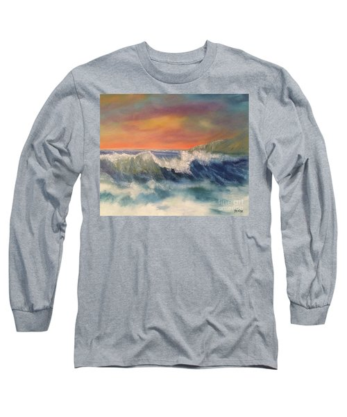 Long Sleeve T-Shirt featuring the painting Sea Mist by Denise Tomasura