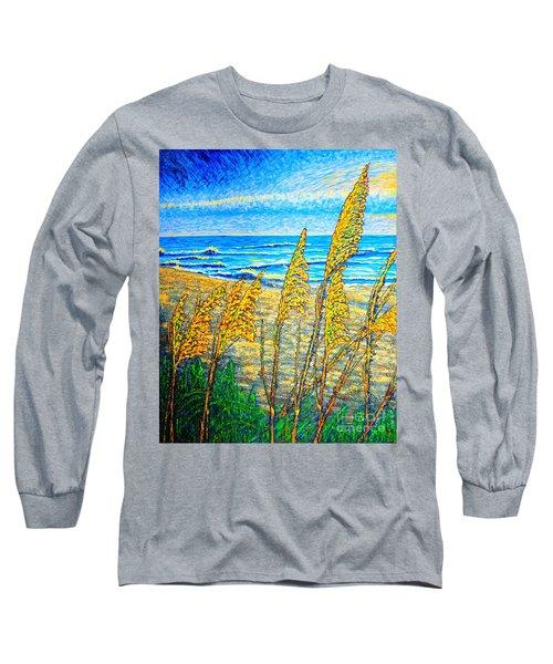Sea Oat,dual #1 Long Sleeve T-Shirt