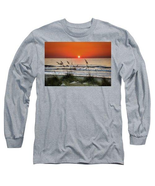 Sea Oats Sunrise Long Sleeve T-Shirt by Phil Mancuso