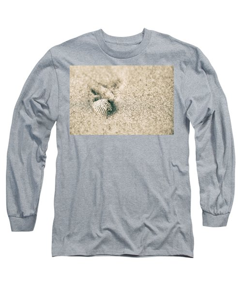Long Sleeve T-Shirt featuring the photograph Sea Shell On Beach  by John McGraw