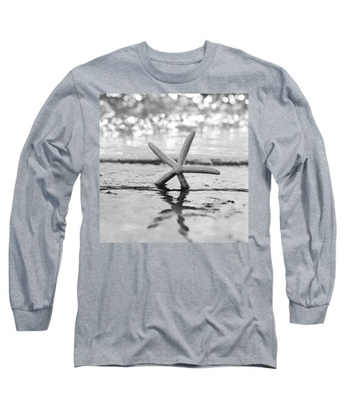 Sea Star Bw Long Sleeve T-Shirt by Laura Fasulo