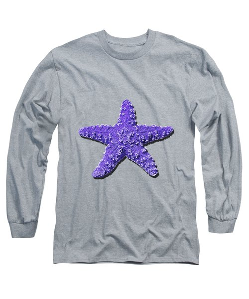 Long Sleeve T-Shirt featuring the photograph Sea Star Purple .png by Al Powell Photography USA