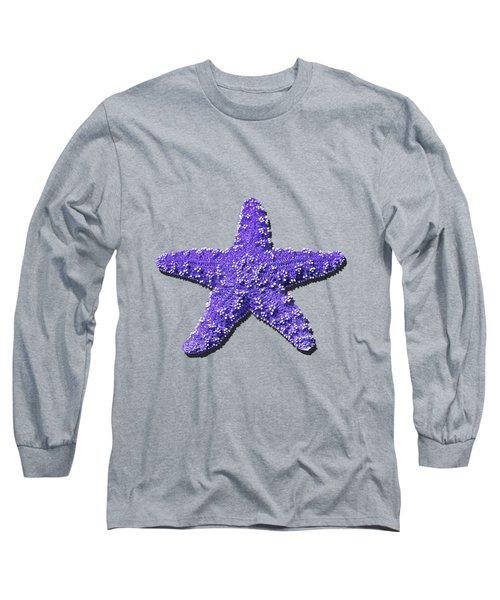 Sea Star Purple .png Long Sleeve T-Shirt