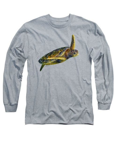 Sea Turtle 2 Long Sleeve T-Shirt by Hailey E Herrera