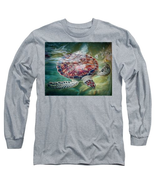 Sea Turtle Dive Long Sleeve T-Shirt