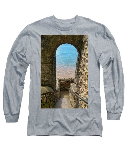 Long Sleeve T-Shirt featuring the photograph Sea View Arch by Scott Carruthers