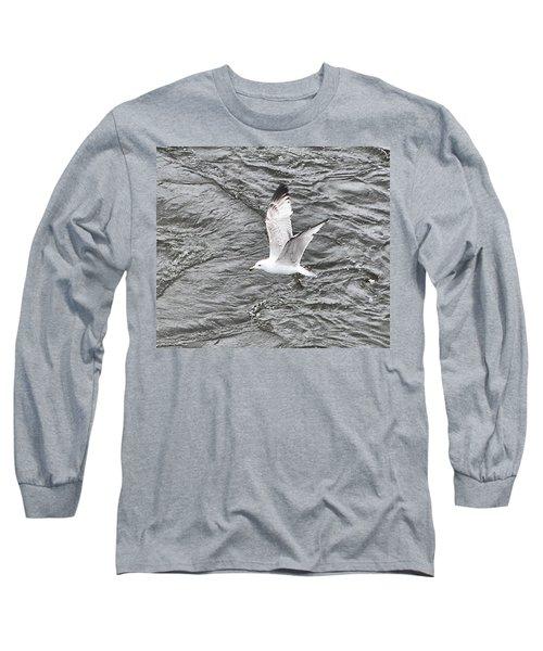 Seagull Sea Long Sleeve T-Shirt by Yury Bashkin