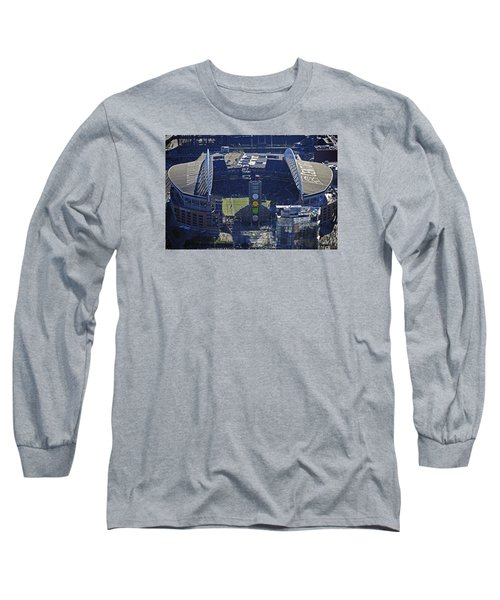 Long Sleeve T-Shirt featuring the photograph Seahawk Stadium by Jack Moskovita