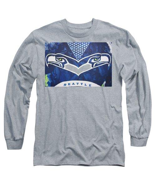 Seahawks Helmet Long Sleeve T-Shirt