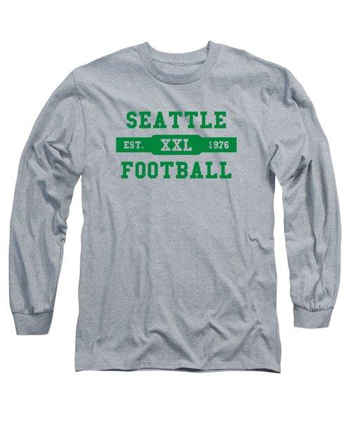 Seahawks Retro Shirt Long Sleeve T-Shirt by Joe Hamilton