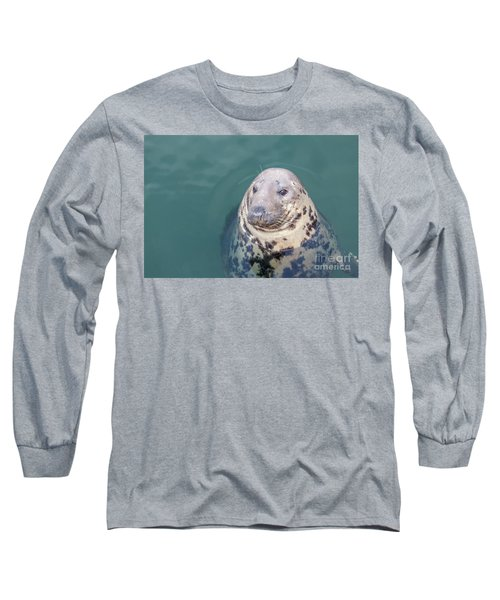 Seal With Long Whiskers With Head Sticking Out Of Water Long Sleeve T-Shirt