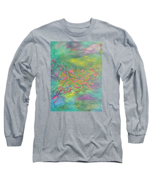 Long Sleeve T-Shirt featuring the painting Searching by Lyn Olsen