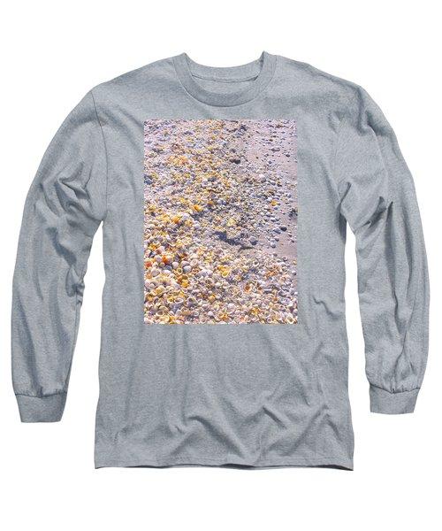 Seashells In Sanibel Island, Florida Long Sleeve T-Shirt