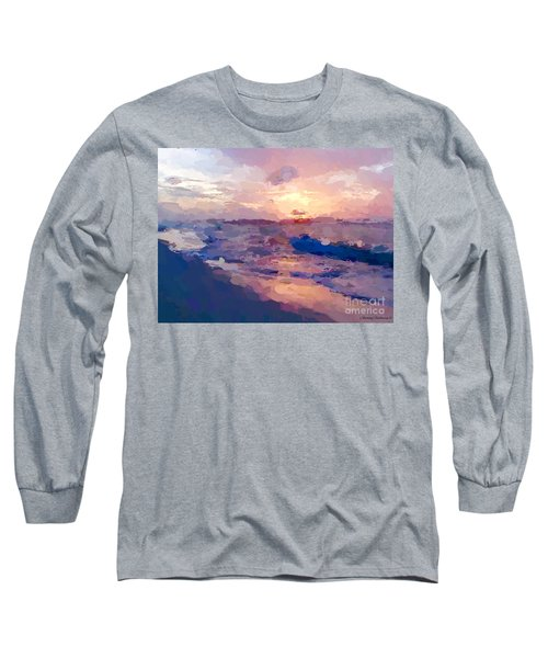 Long Sleeve T-Shirt featuring the mixed media Seaside Swirl by Anthony Fishburne