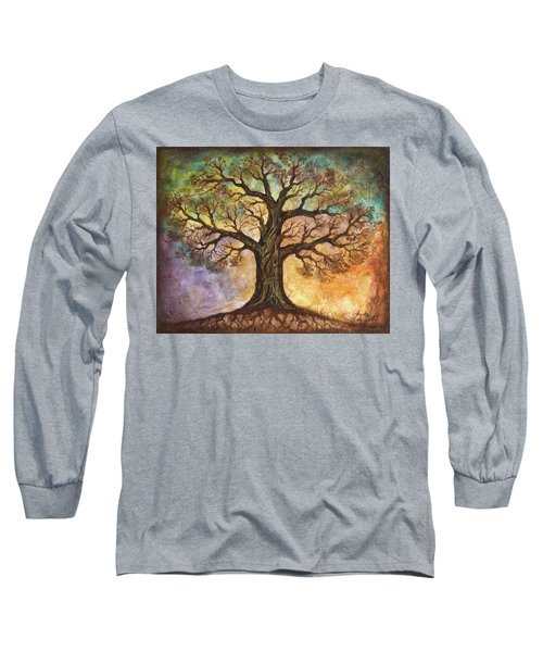 Long Sleeve T-Shirt featuring the painting Seasons Of Life by Agata Lindquist