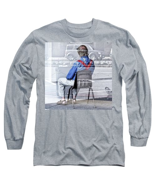 Seated Man Long Sleeve T-Shirt