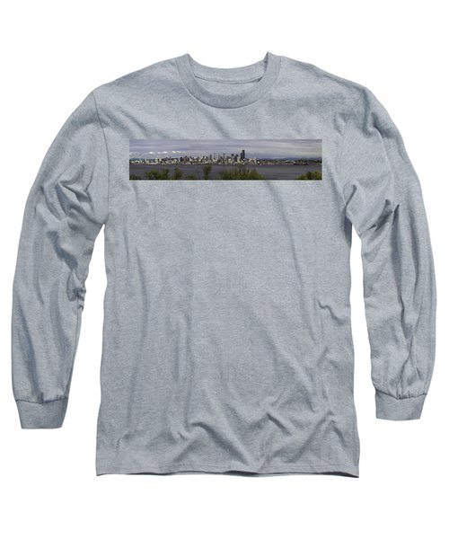 Seattle At Its Best Long Sleeve T-Shirt by James Heckt
