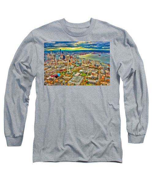 Long Sleeve T-Shirt featuring the photograph Seattle by Jerry Cahill