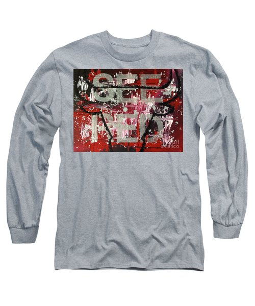 See Red Chicago Bulls Long Sleeve T-Shirt by Melissa Goodrich