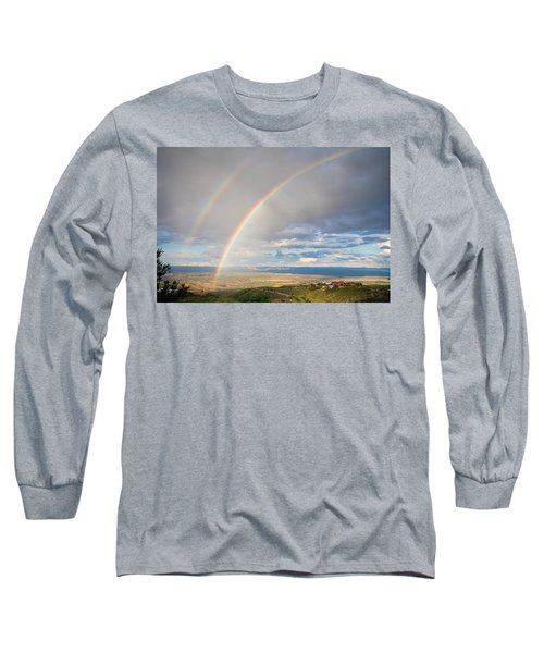 Seeing Double Long Sleeve T-Shirt by Alexey Stiop