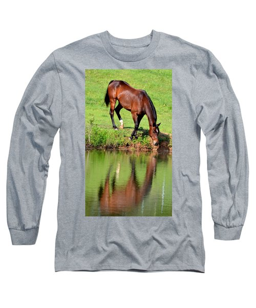 Seeing My Own Reflection Long Sleeve T-Shirt by Maria Urso